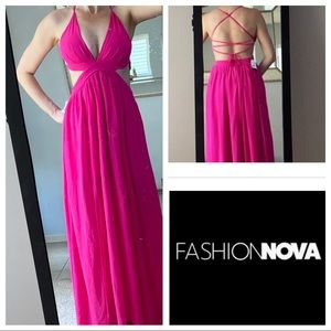 🌺New Fashion Nova Bright magenta open sided